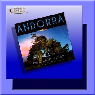 Kursmünzensatz Andorra 2015 im Blister